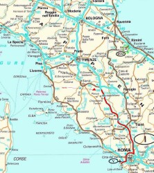 Map Of North West Italy.Italy Trip